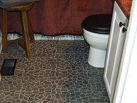Grey Tumbled Interlocking Marble Mosaic Wall Floor Tiles